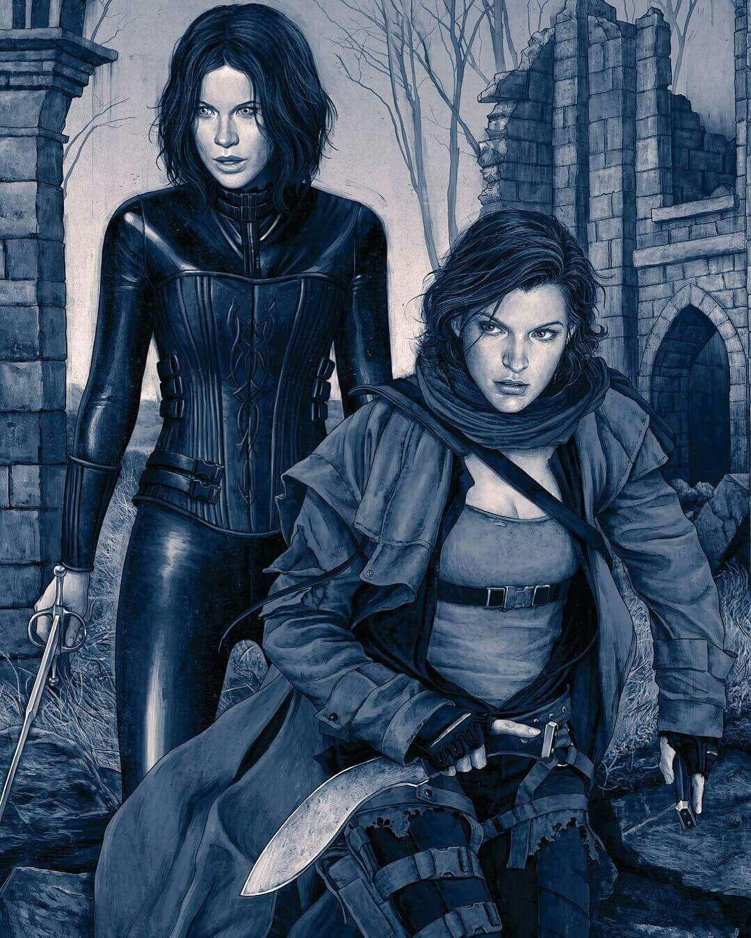 Selene Alice Underworld Resident Evil Posteres De Filmes