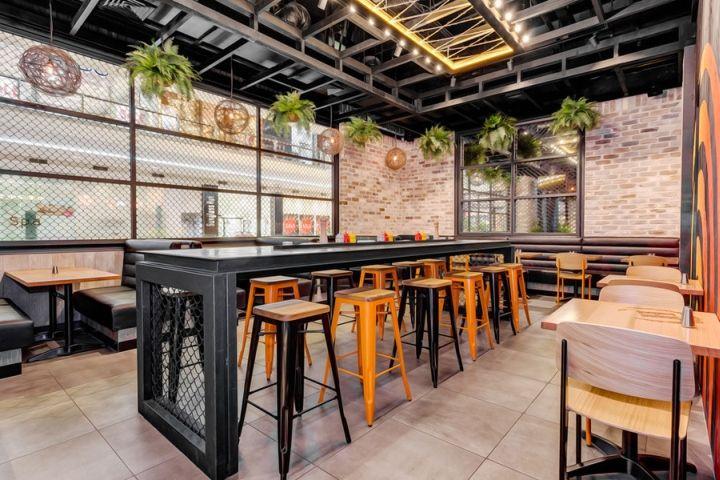 Hurricanes Express Restaurant By Nufurn Giant Design Sydney Australia