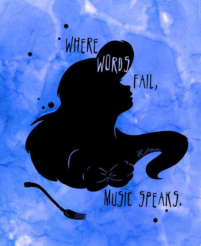 """""""Where words fail, music speaks."""" — Hans Christian Andersen"""