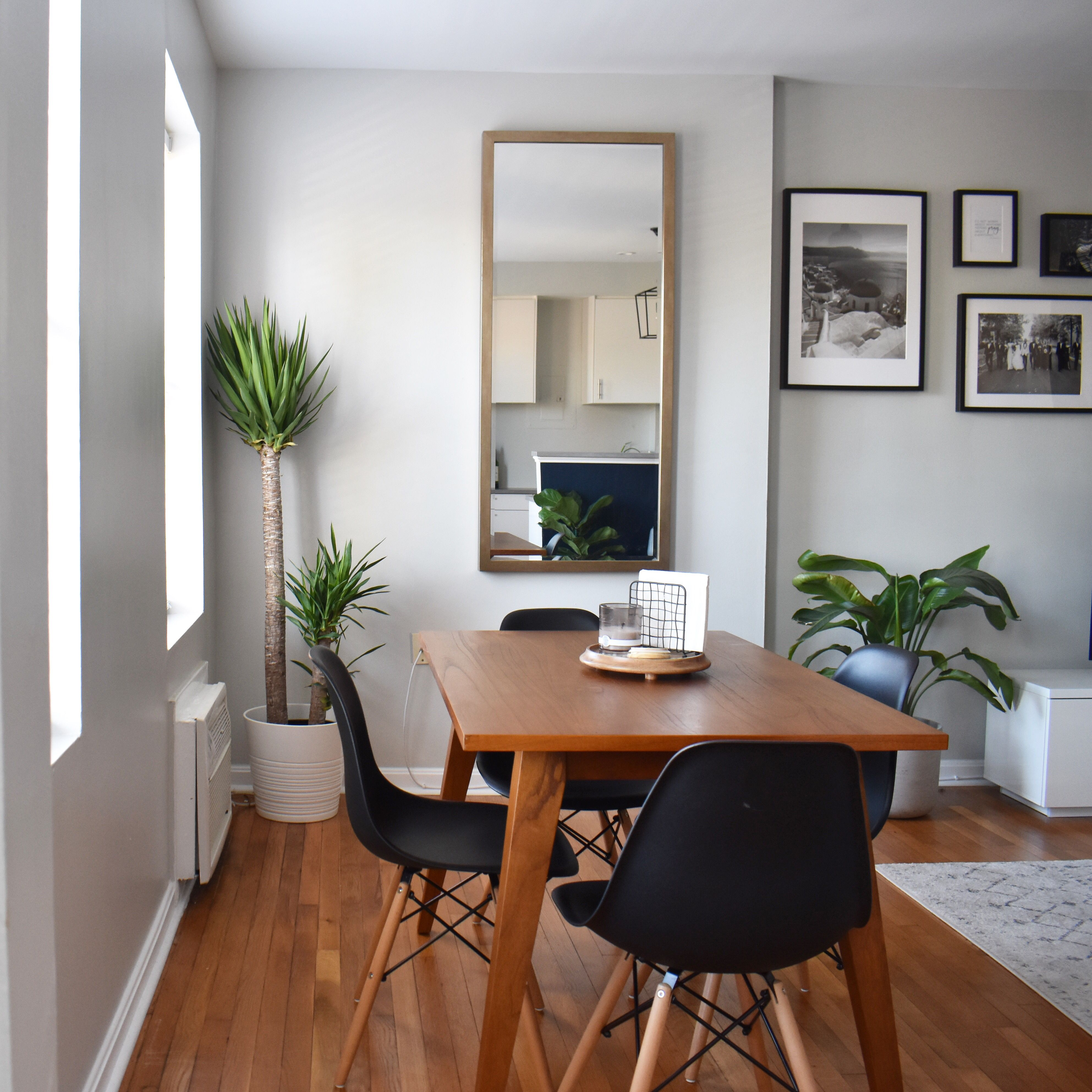 West Elm Versa dining table matched with modern dining ...