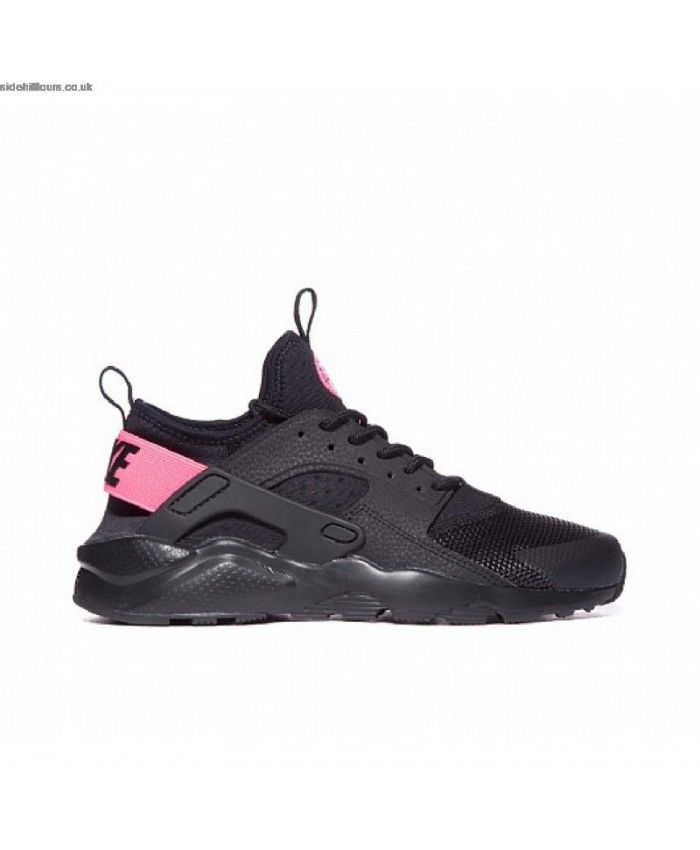 41b0d107f4ab Nike Air Huarache Junior Black Pink Trainers
