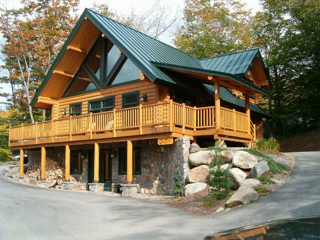From fb page wholesale log homes http parlayangozler for Log cabin with basement