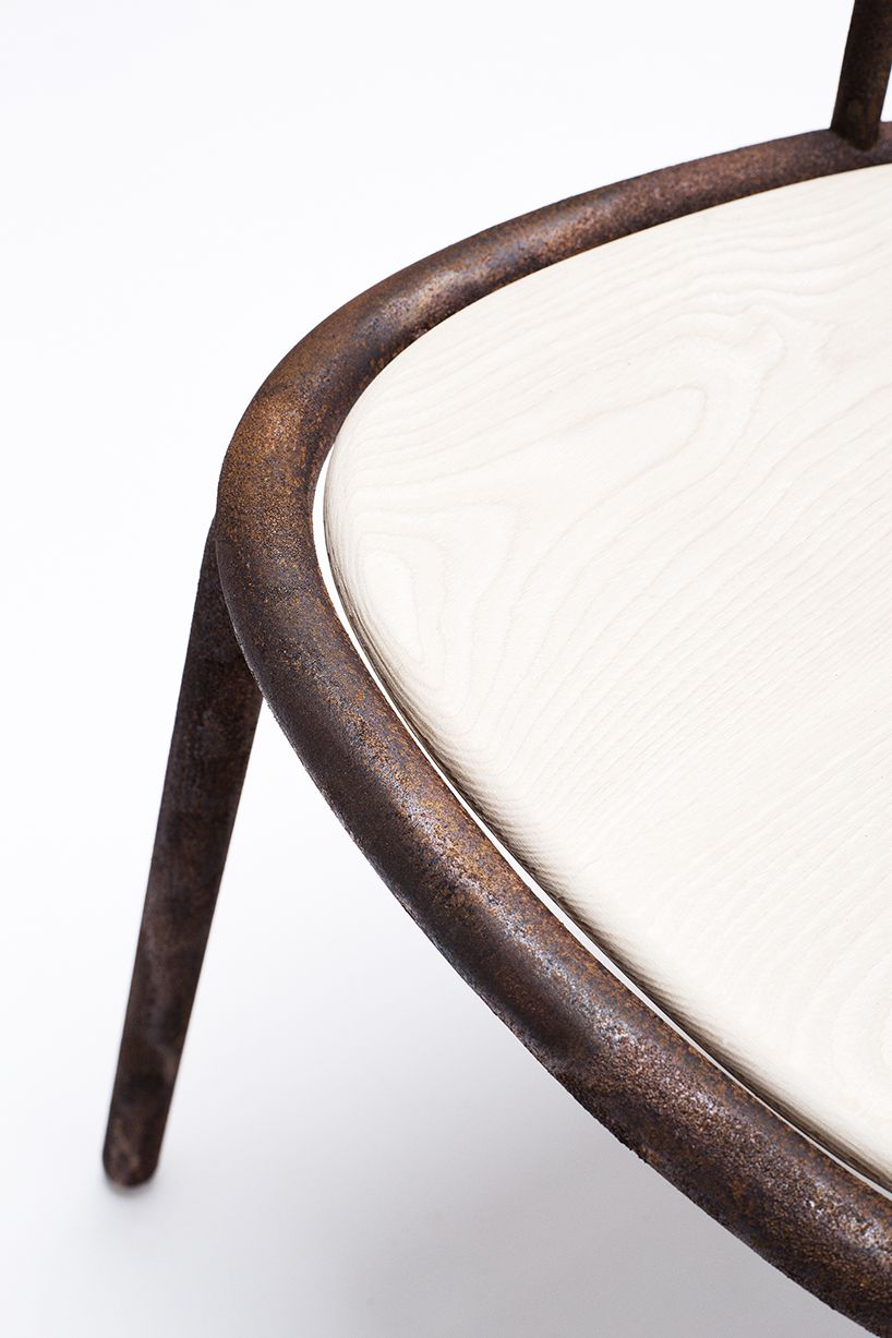 Steel Chair Manufacturing Process Luraco Massage Andreas Konradsen Naturally Welds Ripe Seating Pinterest The Undergoes A Slow Of Corrosion That Merges Exposed Construction Producing Sturdy Frame