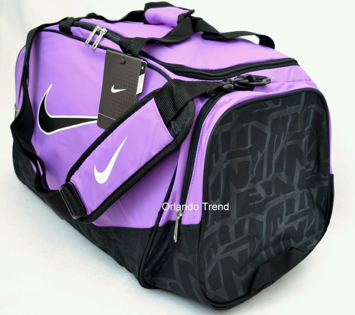 11df184ea55f Nike Duffel Bag Brasilia 5 Purple Black Medium Bag Gym Duffle Men ...