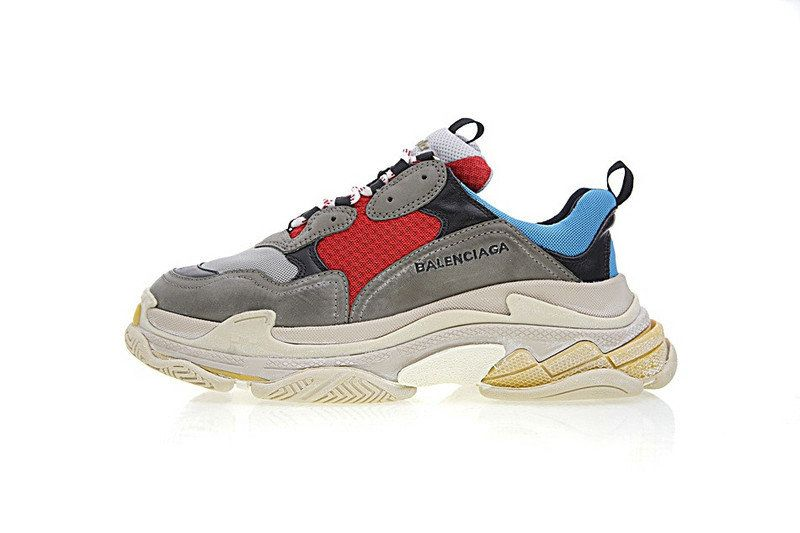 2019 的 Unisex Balenciaga Triple S Sneakers Black Red Lue ... fc3a909c35f