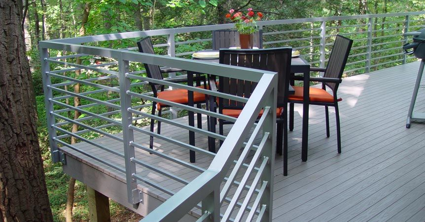 decorative aluminum railing. Decorative Porch Railings  Custom Aluminum Metal Deck Top