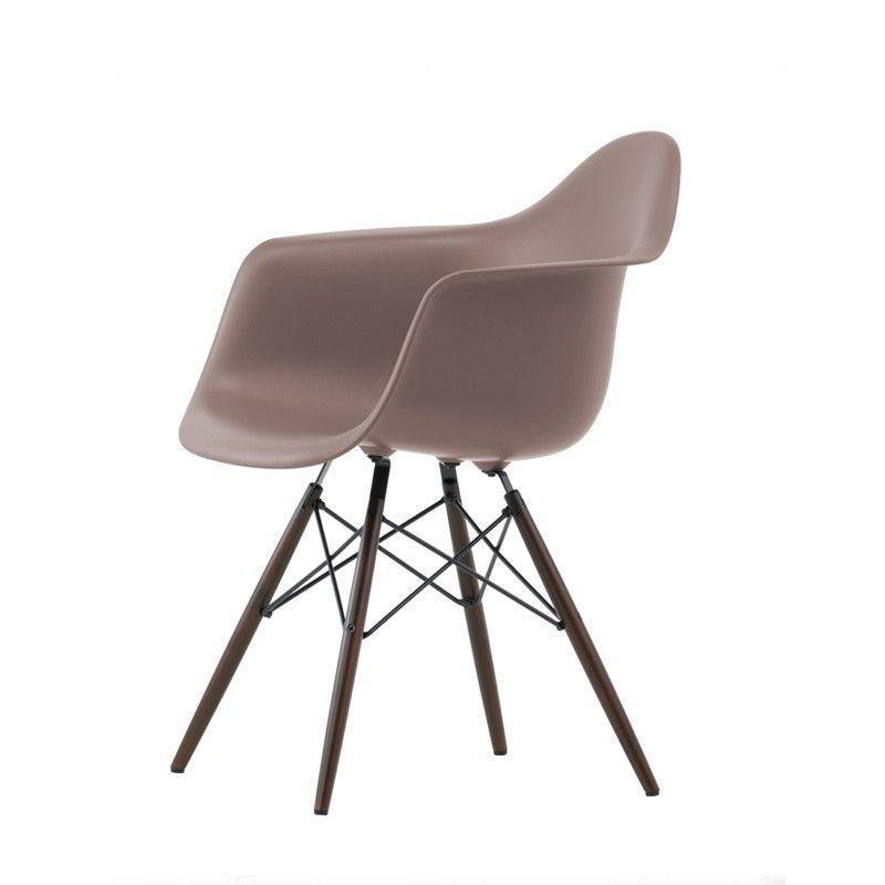 Eames fauteuil DAW Nouvelle hauteur pieds foncés vitra