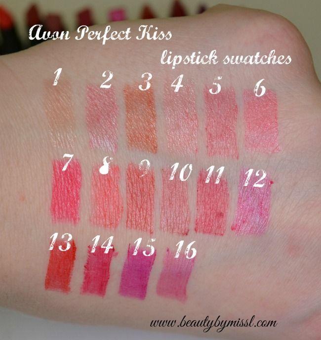 Avon Perfect Kiss Lipstick Swatches Lipstick Swatches Perfect