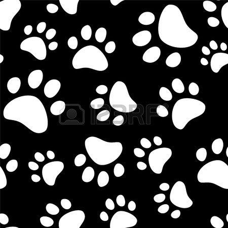 Huellas De La Pata De Un Perro O Un Patrón De Gato Sin Fisuras Huellas De Perro Huellas De Gato Huellas