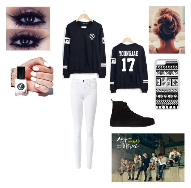"""""""Got7"""" by gotbangtan ❤ liked on Polyvore featuring beauty, Ann Demeulemeester, CellPowerCases, Cirque Colors and Bambam"""