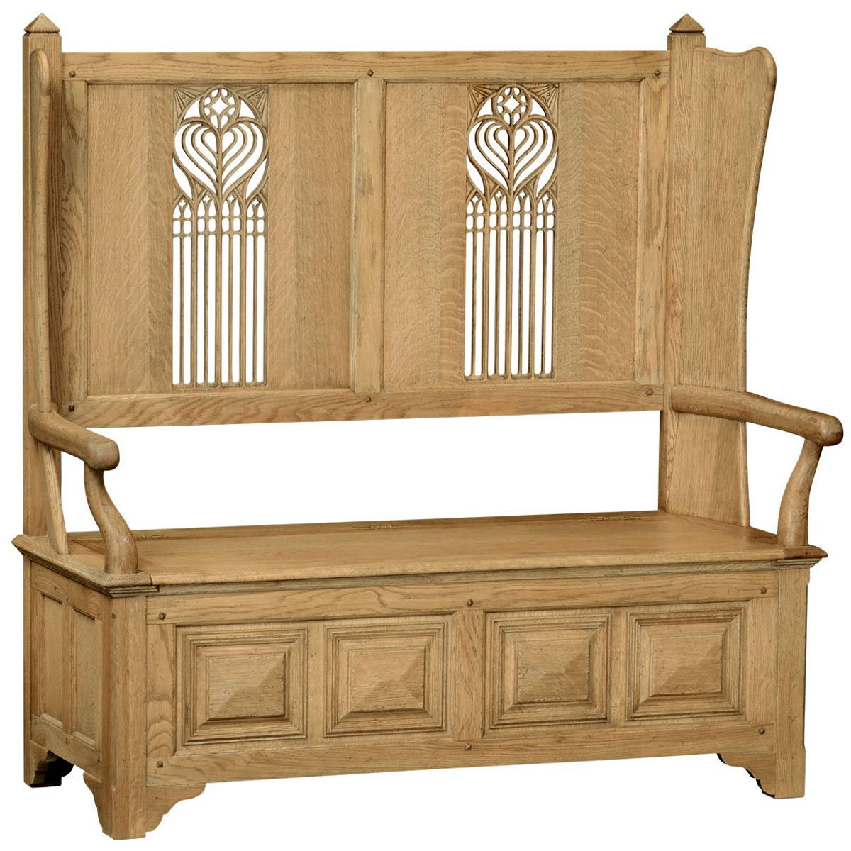 Mapple Meubles Anglais Jonathan Charles Gothic Style Settle With Storage Products