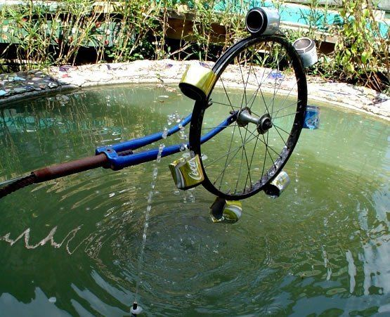 water wheel don t throw that out water recycling bicycle rims