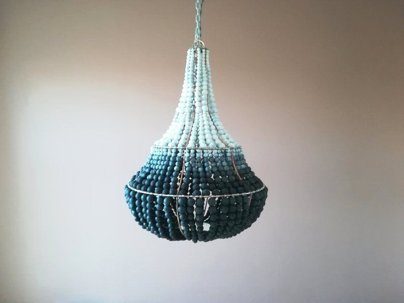 Wooden Beads Chandeliers And Ceiling Lamps Material Texture And Color Wooden Bead Chandelier Boho Lamp Beaded Chandelier