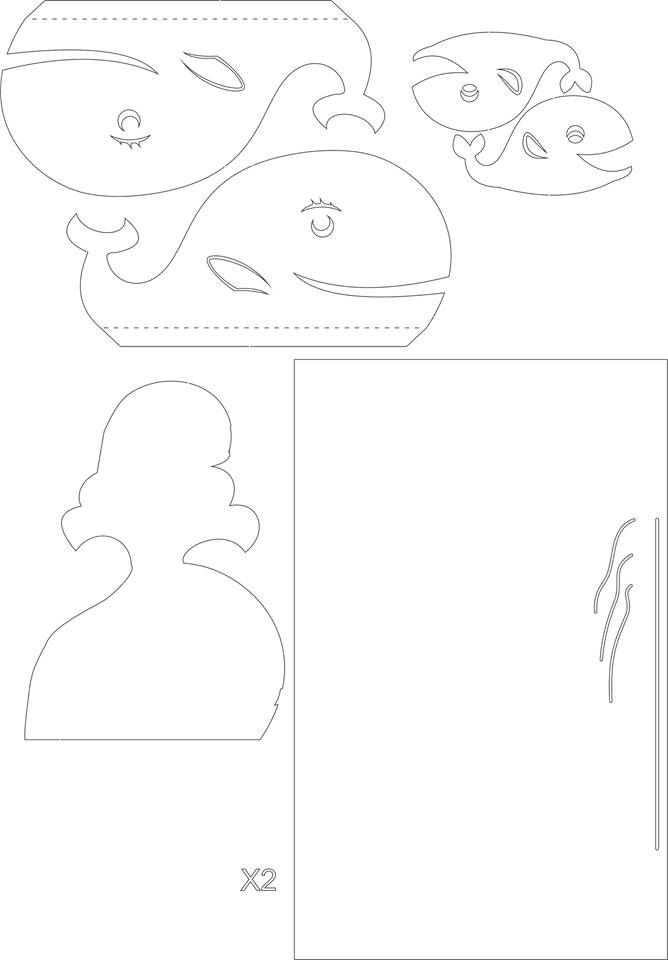 Pop Up Whale I Think For Some Reason They Have It As Dolphin Family 3d Pop Up Card Kirigami Pattern Pop Up Card Templates Pop Up Pop Up Cards