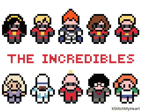 The Incredibles Cross Stitch Pattern PDF INSTANT by XStitchMyHeart, £2.75
