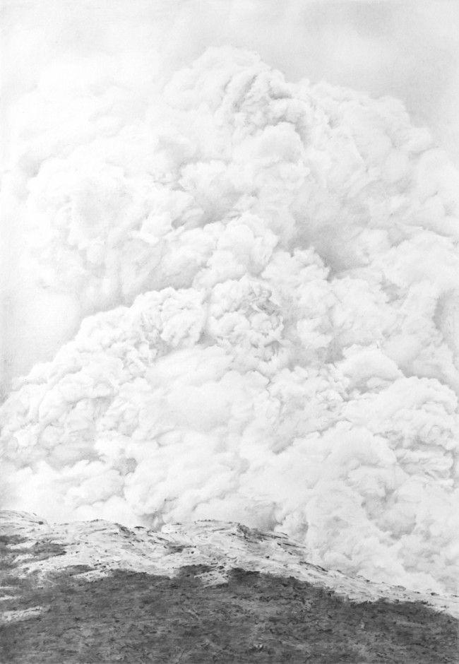 Marissa Textor, Smoking Ledge (2012), graphite on paper