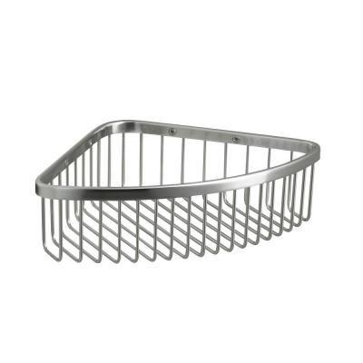 Home Depot Shower Caddy Entrancing Kohler Large Shower Basket In Polished Stainless  Shower Basket Decorating Design