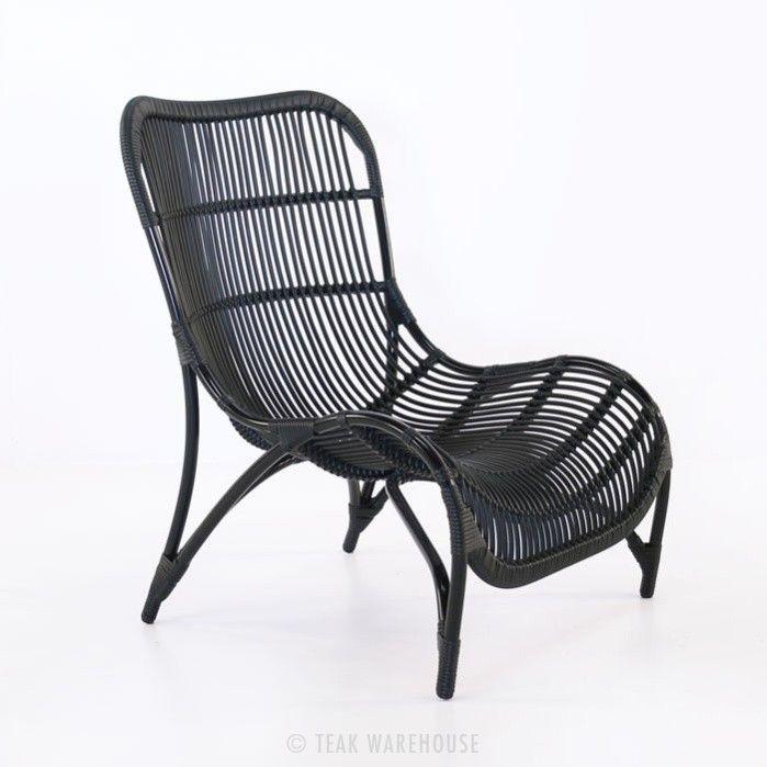 Modern Outdoor Black Wicker Chair Outdoor Furniture Chairs Relaxing Chair Outdoor Wicker Chairs