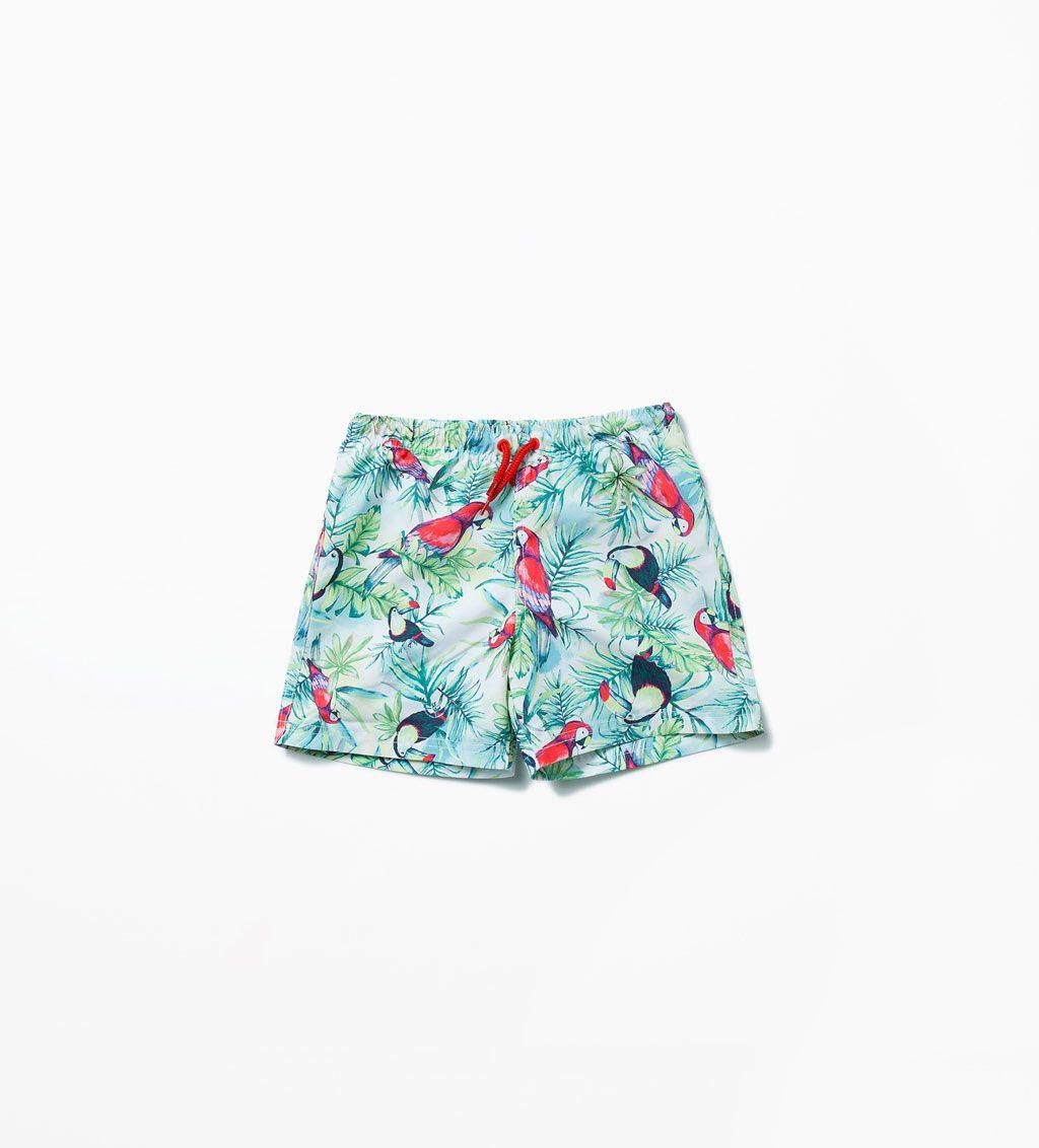 Parrot print swim trunks-Swimwear-Boy (3-14 years)-KIDS   ZARA ...