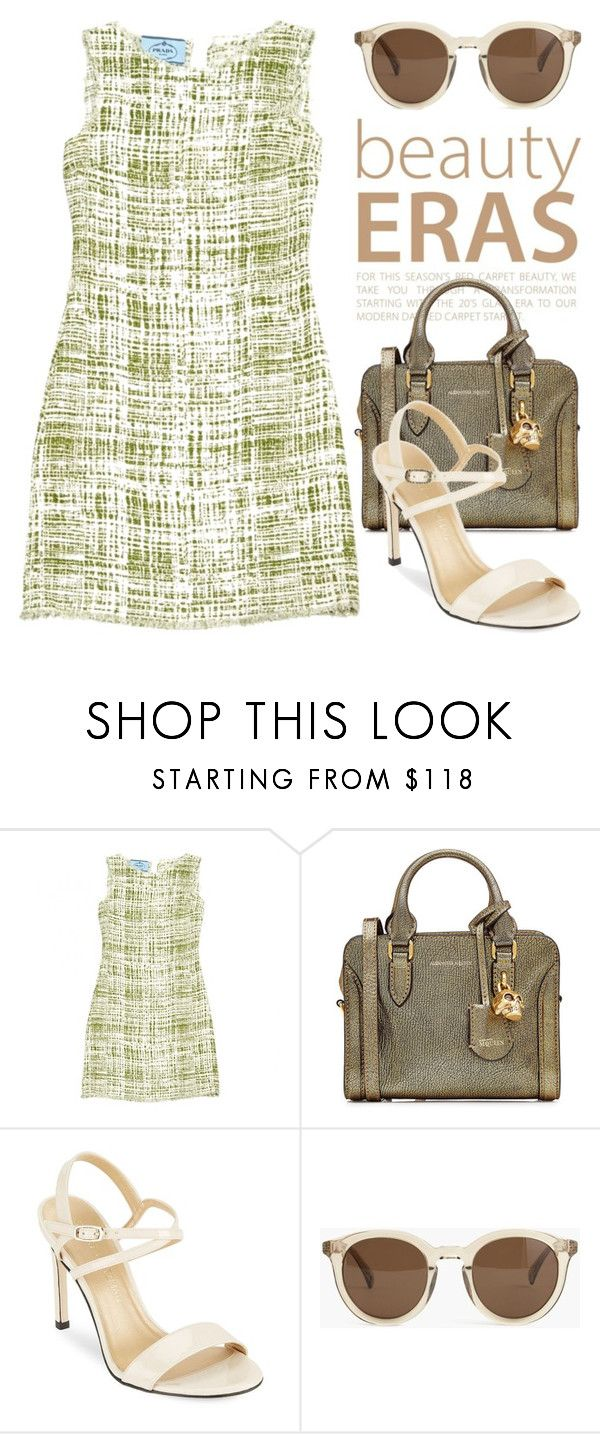 """""""Something Green 3532"""" by boxthoughts ❤ liked on Polyvore featuring Prada, Alexander McQueen, Stuart Weitzman and J.Crew"""