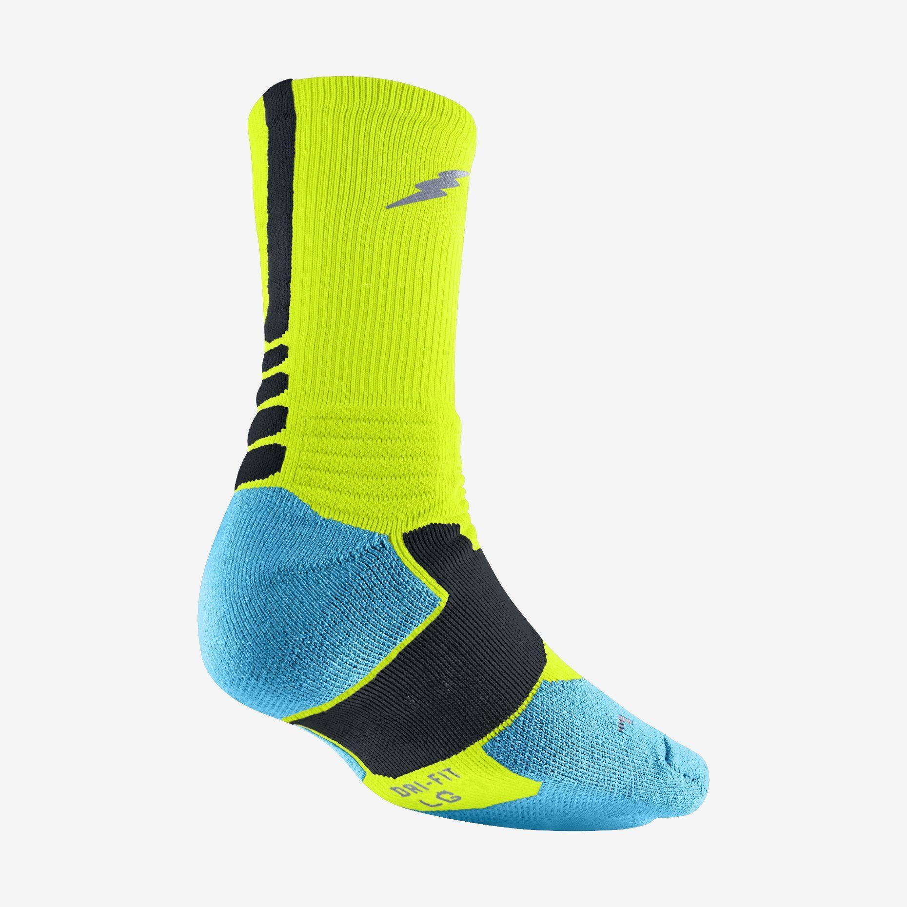 kd 6 sock - black volt away II. Nike Elite SocksNike ...