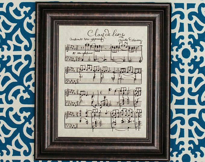 Clair De Lune By Claude Debussy Handwritten Sheet Music With