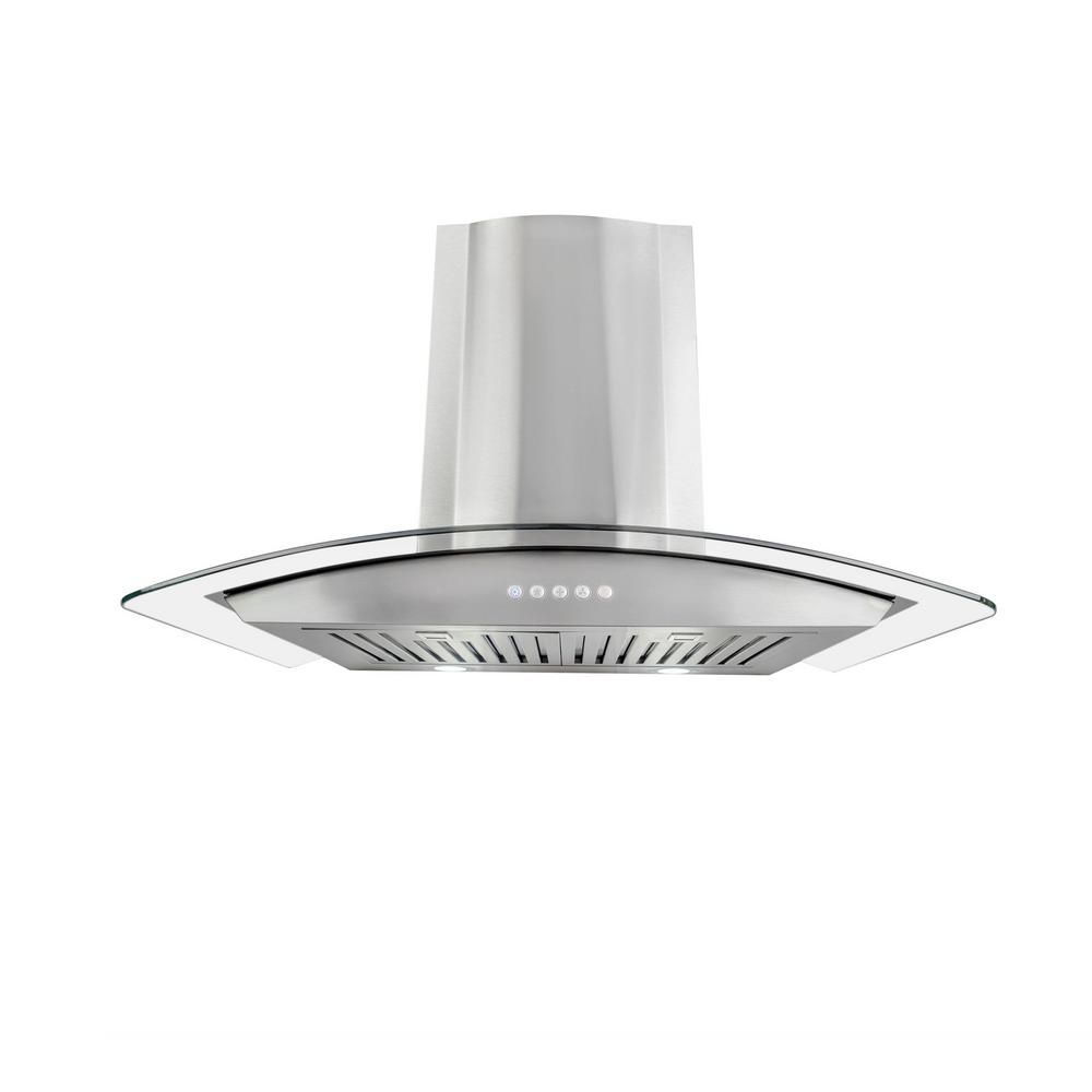 Cosmo 30 In Convertible Wall Mount Range Hood In Stainless Steel With Led Lighting And Permanent Filters 668a750 Wall Mount Range Hood Range Hood Wall Mount