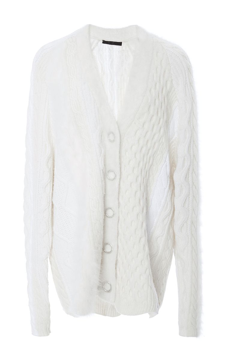 Cable Striped Cardigan by ALEXANDER WANG for Preorder on Moda Operandi