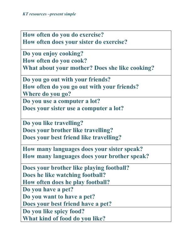 Present Simple Discussion Questions This Or That Questions Discussion Questions Teaching English