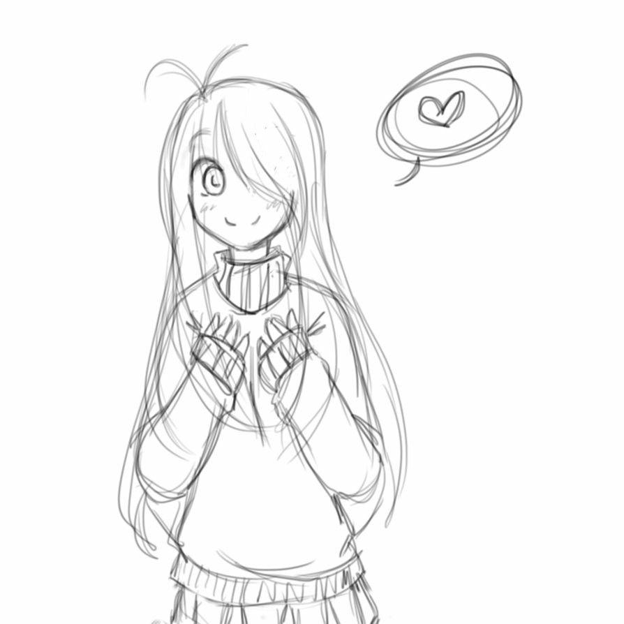 Chica Manga Enamorada Dibujos Bocetos Artisticos Dibujos Kawaii