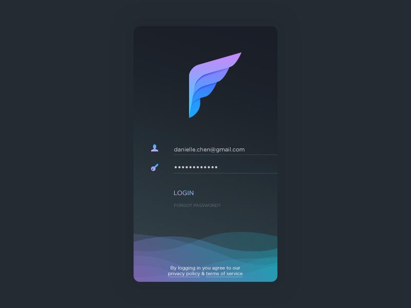 Dark Login Login design, App design, Web design