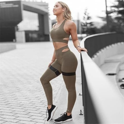 Women Sport Suit Gym Set Gym Clothing Sportswear fitness Wear #Clothing #fitness #Gym #Set #Sport #S...
