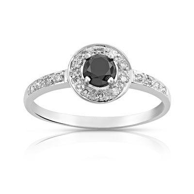 maty bague diamant noir