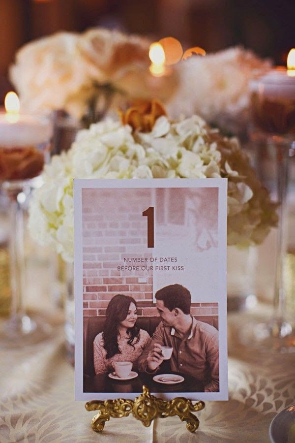 7 centros de mesa para bodas con fotos de los novios Wedding and