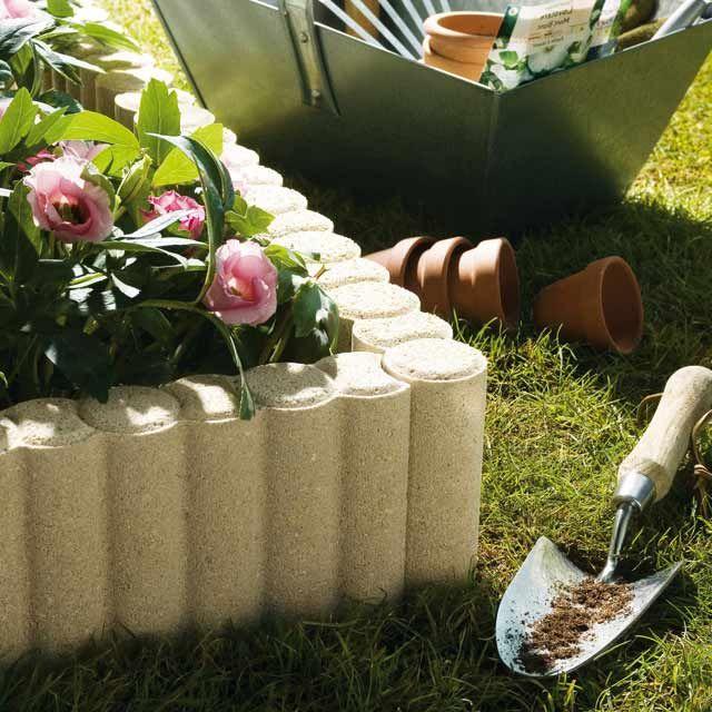 bordure b ton colonnette pierre 50 x 16 cm p 5 5 cm bordures de jardin pinterest bordure. Black Bedroom Furniture Sets. Home Design Ideas