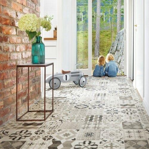Antique Style Gustavian 40 Cushioned Vinyl Flooring Roll Extraordinary Patterned Vinyl Flooring
