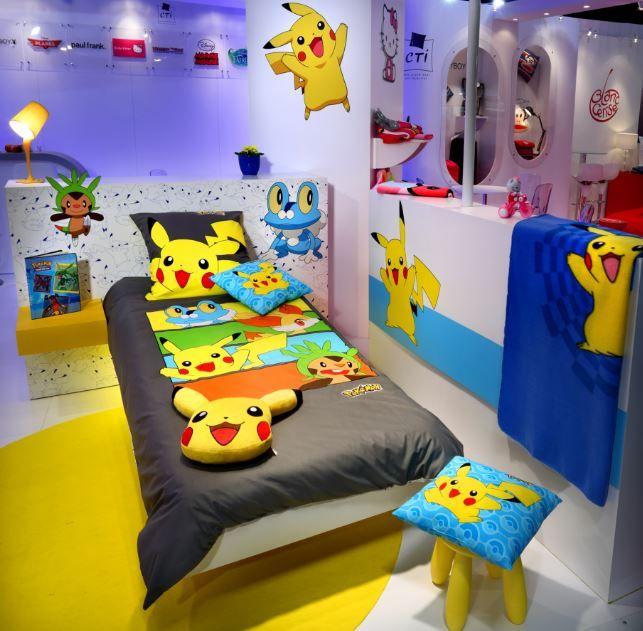 Pokemon bedroom ideas pokemon go mania recamaras for Habitaciones nina baratas