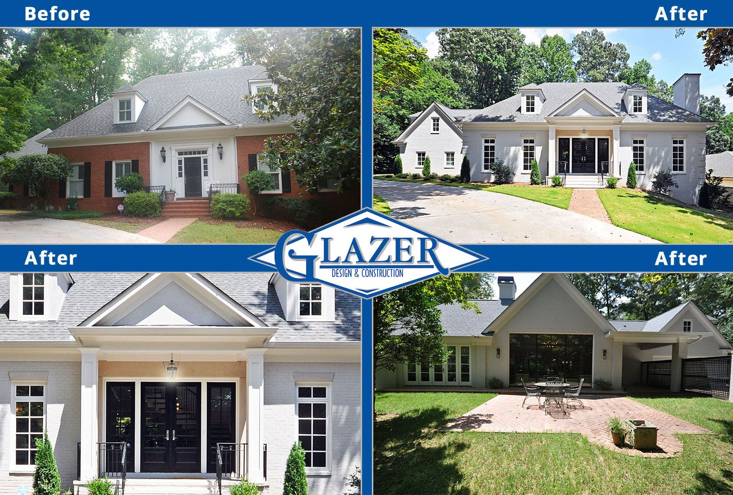 View home renovation before and after photo collages of for Home renovation before and after