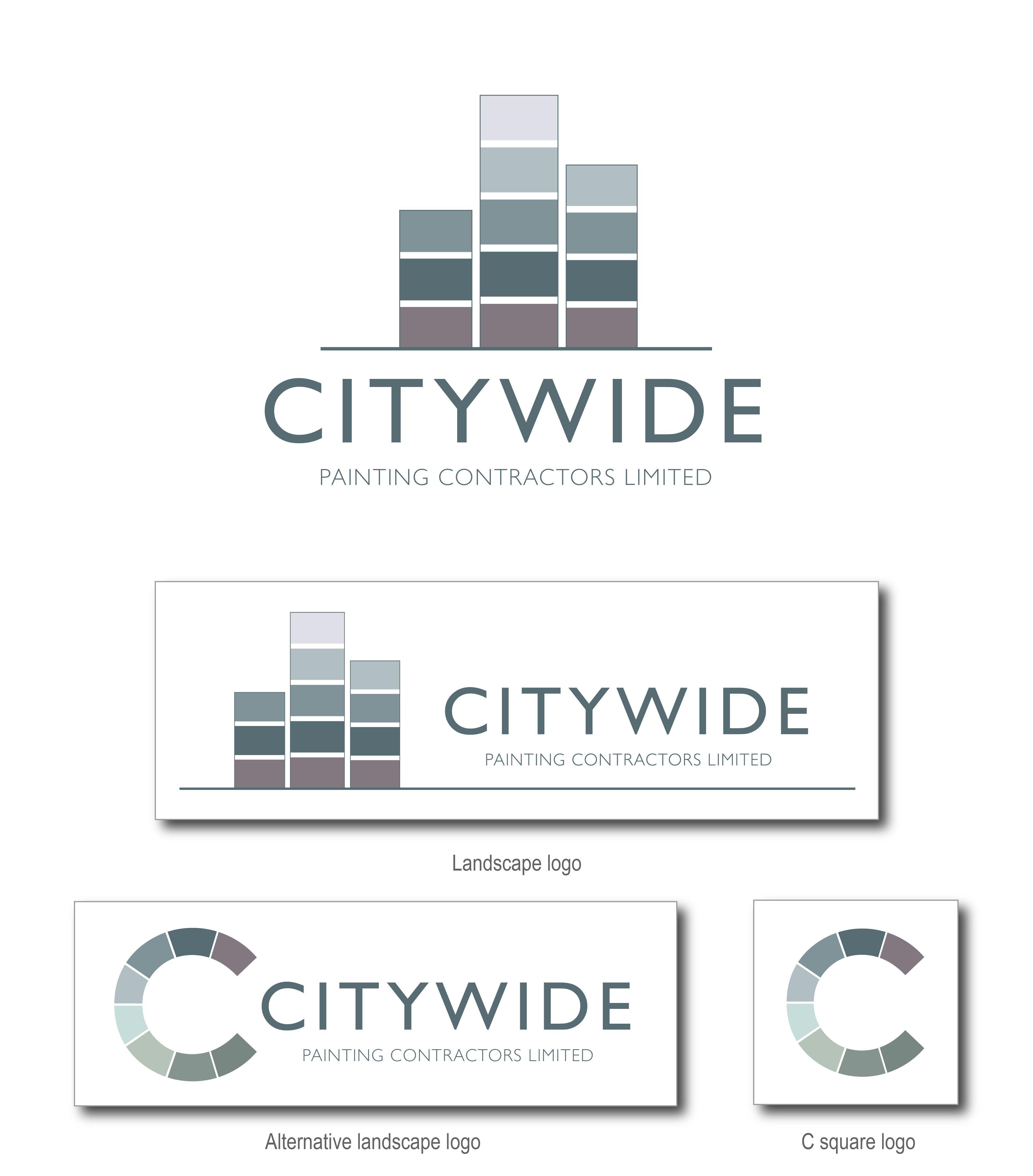 logo design branding for citywide painting contractors my