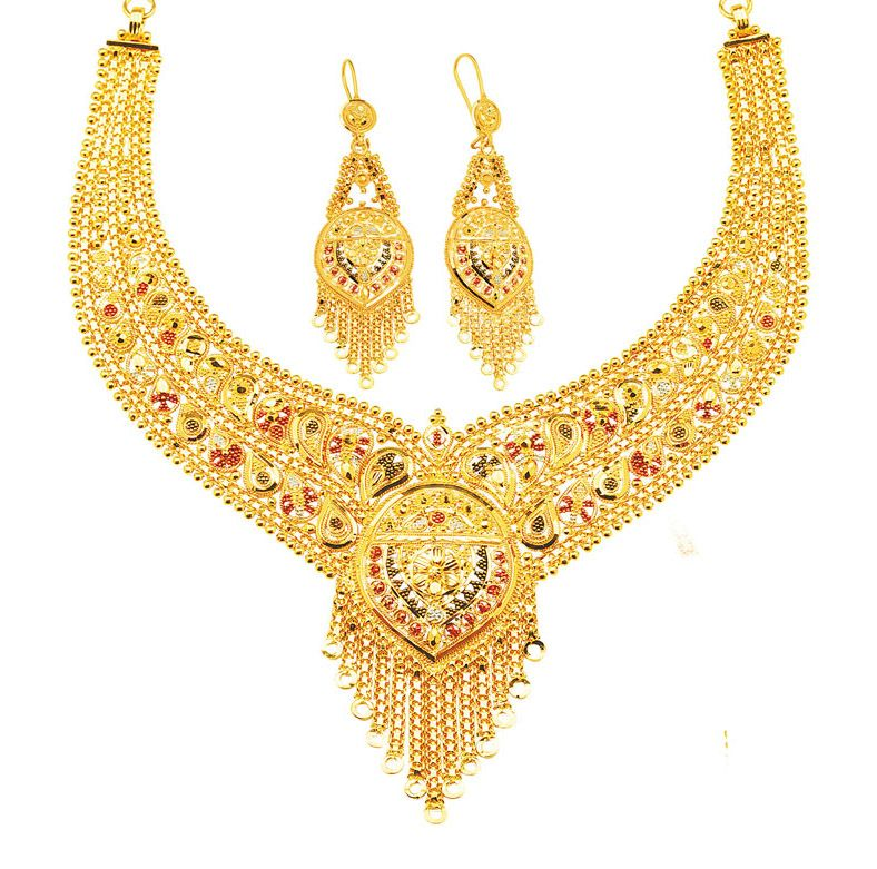 15 Nice Examples Of Gold Necklace Designs   Necklace designs, Gold ...