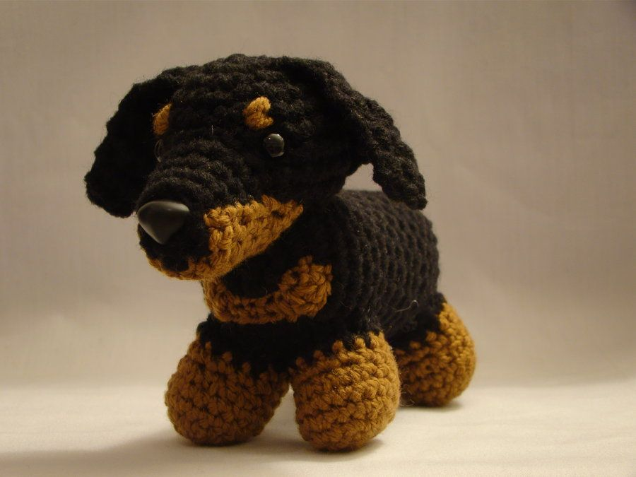 Free Amigurumi Dachshund Pattern : Dachshund crochet by adaytocrochet on deviantart knit crochet