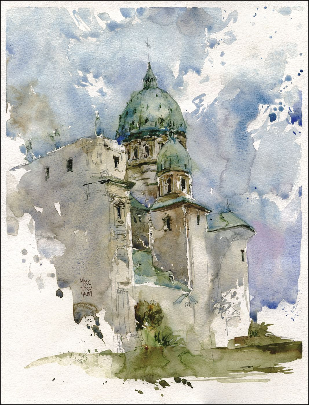 And the demos from the weekend aquarell aquarell for Architektur aquarell