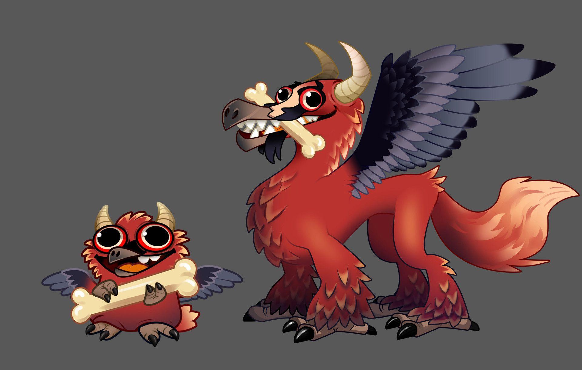 ArtStation Osteryx Dragon for Dragonvale, Meg Viola in