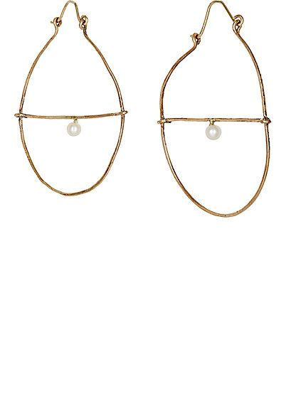 Womens Hammered Hoop Earrings Julie Wolfe MV9LT