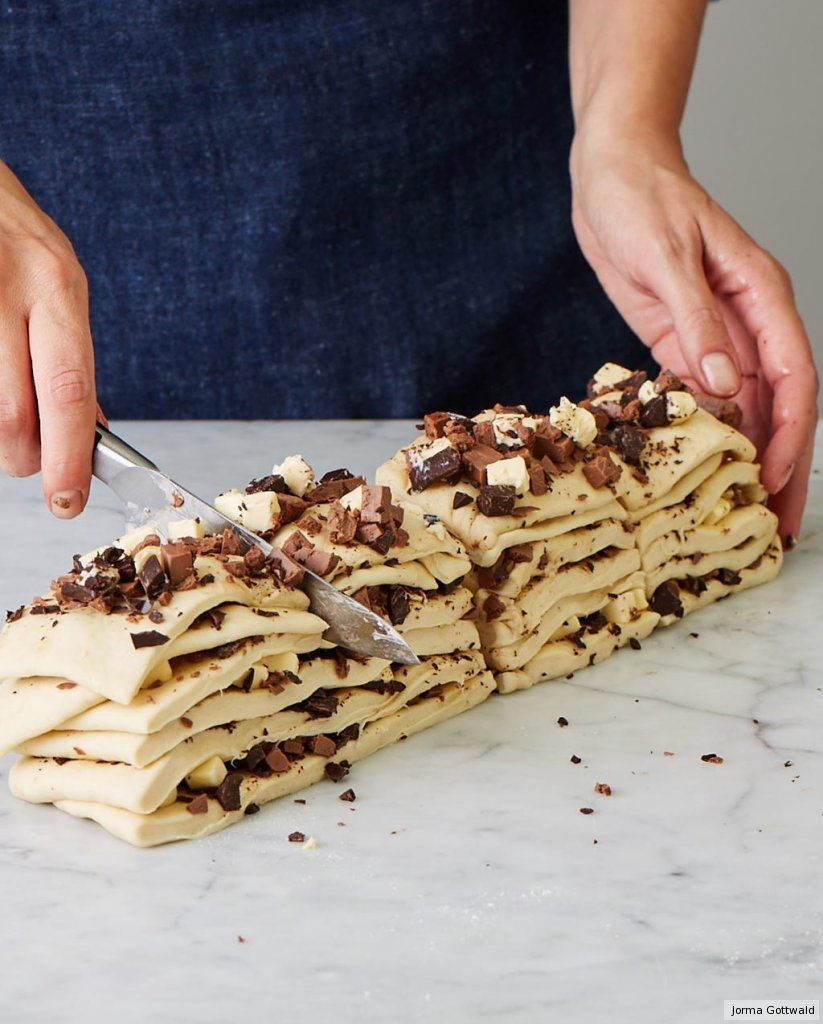 Photo of Chocolate nougat plucked bread recipe