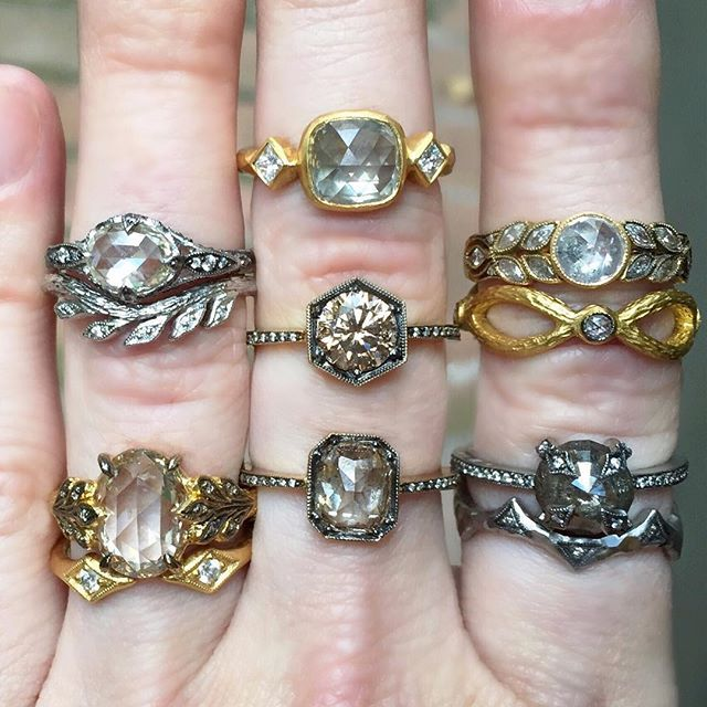 r fine set bezels karat cathy ring tcw and diamond images waterman rings products with shaped jewelry gold yellow ct peridot in white cw diamonds