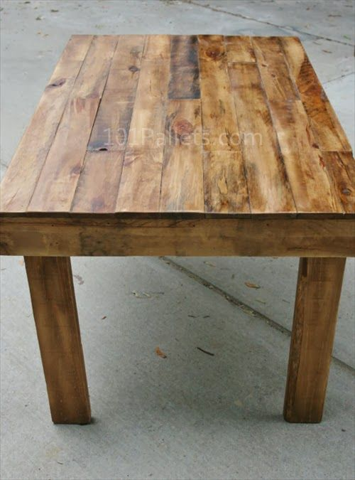 Easy To Make Pallet Wood Dining Table Wood Pallets Wooden