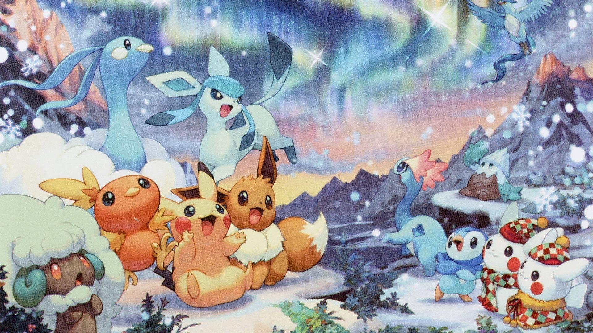 10 Most Popular Pokemon Christmas Wallpaper Hd Full Hd 1080p For Pc Desktop Pikachu Wallpaper Christmas Wallpaper Hd Cute Pokemon Wallpaper