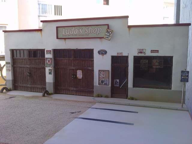 1 24 1 25 Barn Garage Diorama For Sale On Ebay: Inspiration Diorama Ludo's Shop Pour Ford Hot Rod Façon