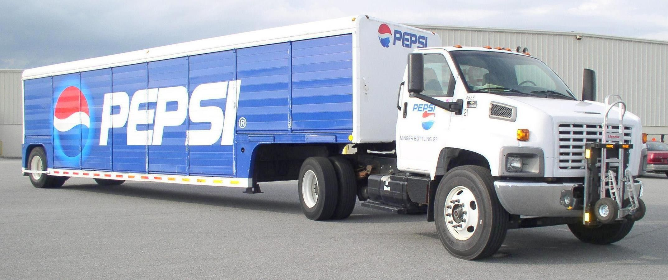PepsiCo Mickey Truck Bodies side-loader beverage trailer and GMC ...